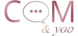 Logo en couleur Com&yoo sur fond blanc