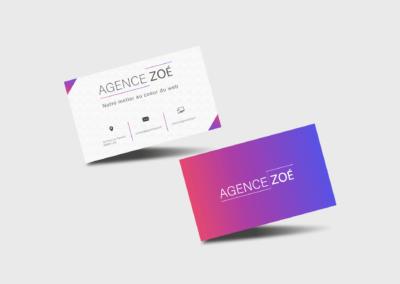 Carte de visite Agence Zoé