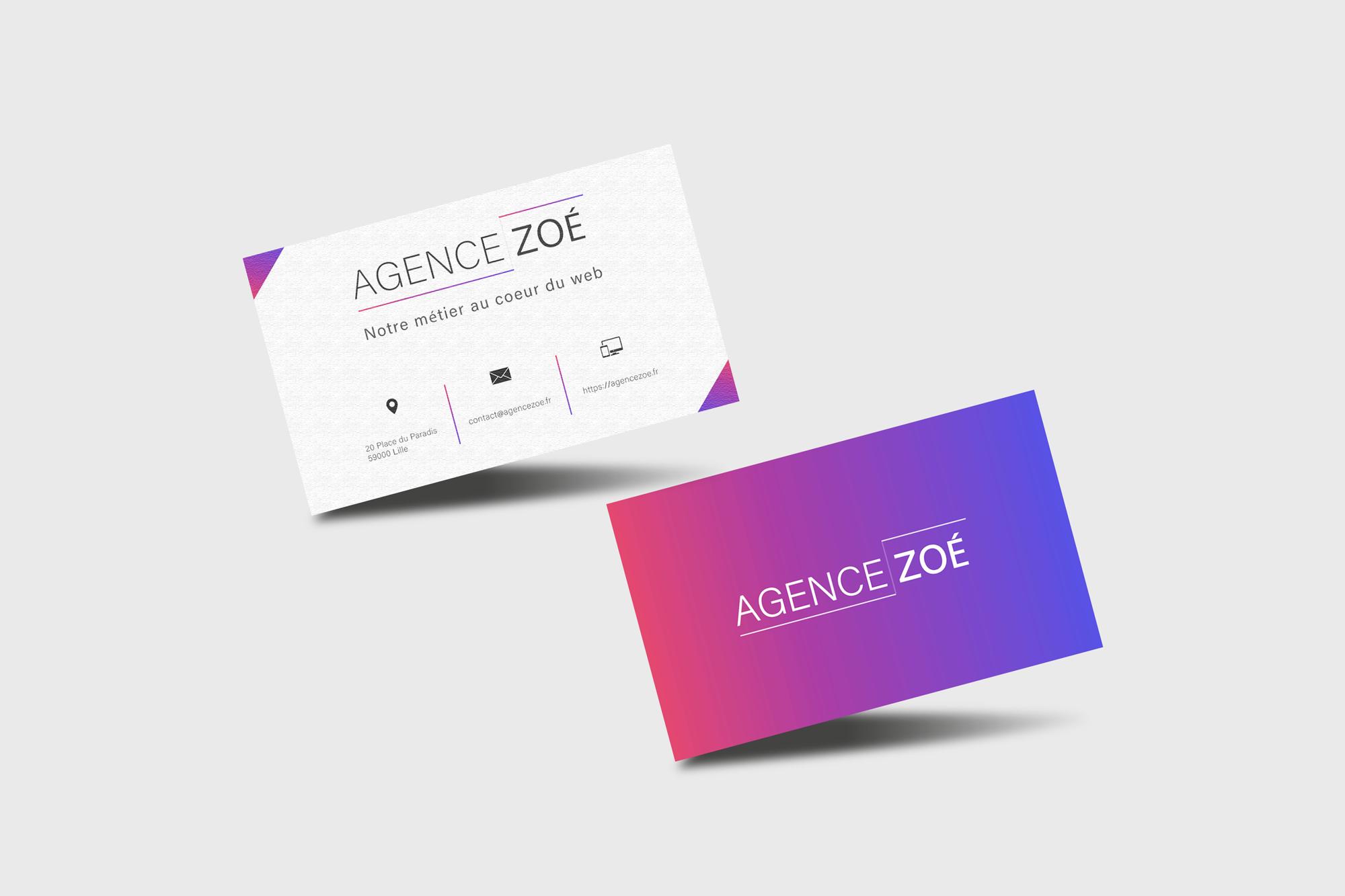 Carte De Visite Agence Zoe