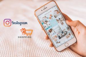 shopping sur mobile instagram